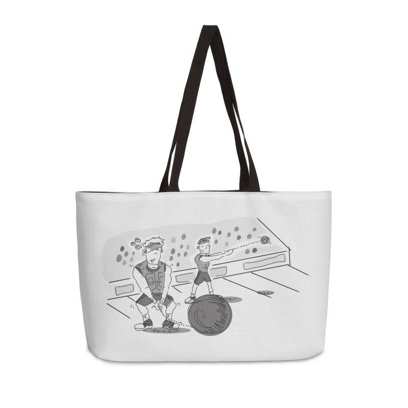 SPORTS! Accessories Weekender Bag Bag by Turkeylegsray's Artist Shop