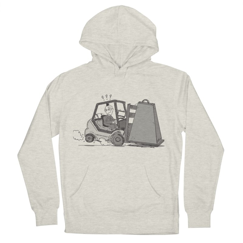 Forklift Men's French Terry Pullover Hoody by Turkeylegsray's Artist Shop