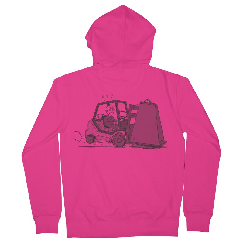 Forklift Men's French Terry Zip-Up Hoody by Turkeylegsray's Artist Shop