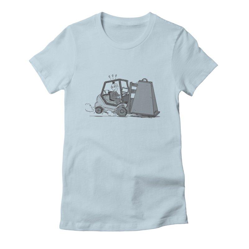 Forklift Women's Fitted T-Shirt by Turkeylegsray's Artist Shop