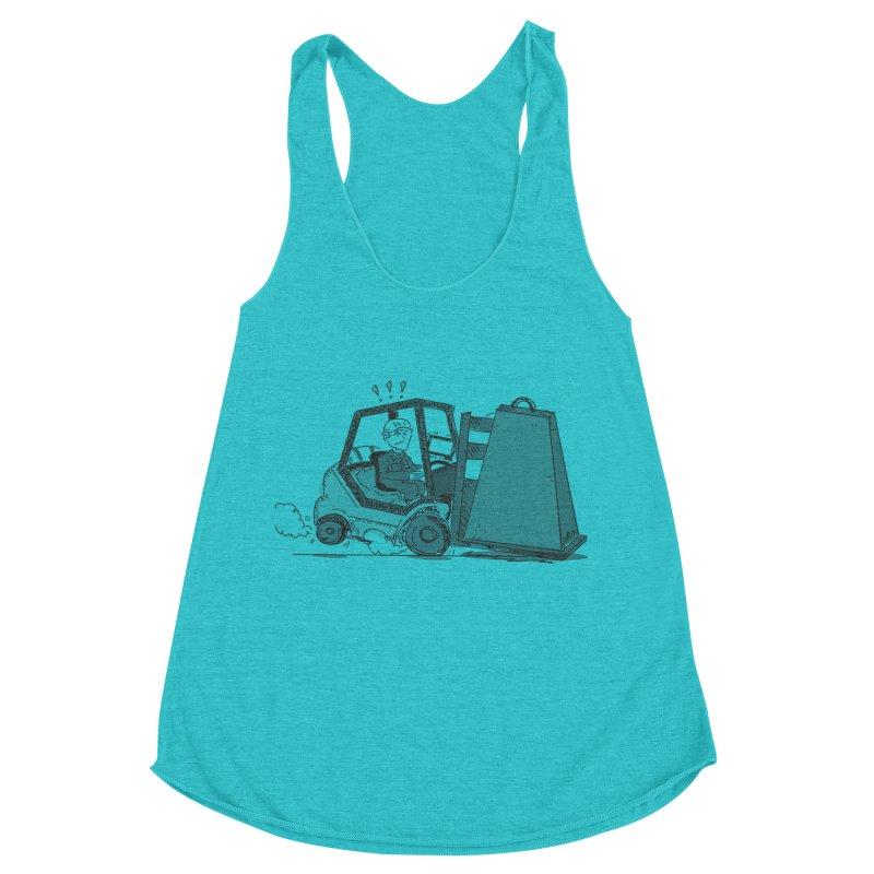 Forklift Women's Racerback Triblend Tank by Turkeylegsray's Artist Shop
