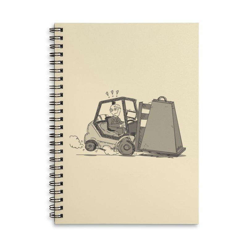 Forklift Accessories Lined Spiral Notebook by Turkeylegsray's Artist Shop