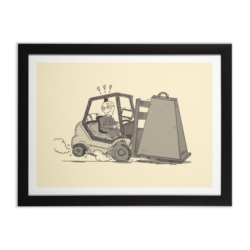 Forklift Home Framed Fine Art Print by Turkeylegsray's Artist Shop