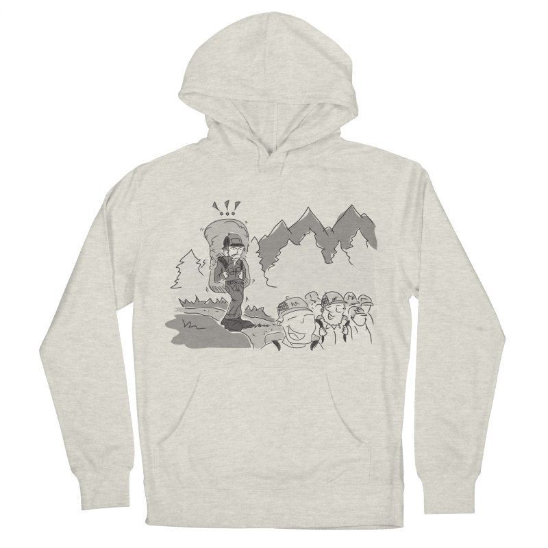 Hiking Men's French Terry Pullover Hoody by Turkeylegsray's Artist Shop