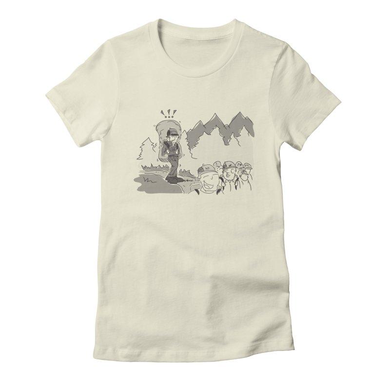 Hiking Women's Fitted T-Shirt by Turkeylegsray's Artist Shop