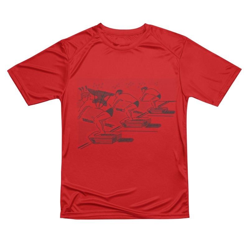 swimming Women's Performance Unisex T-Shirt by Turkeylegsray's Artist Shop