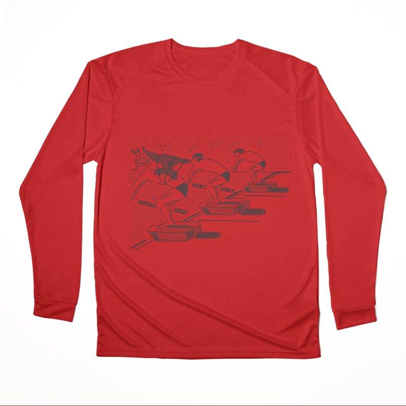 swimming Women's Performance Unisex Longsleeve T-Shirt by Turkeylegsray's Artist Shop