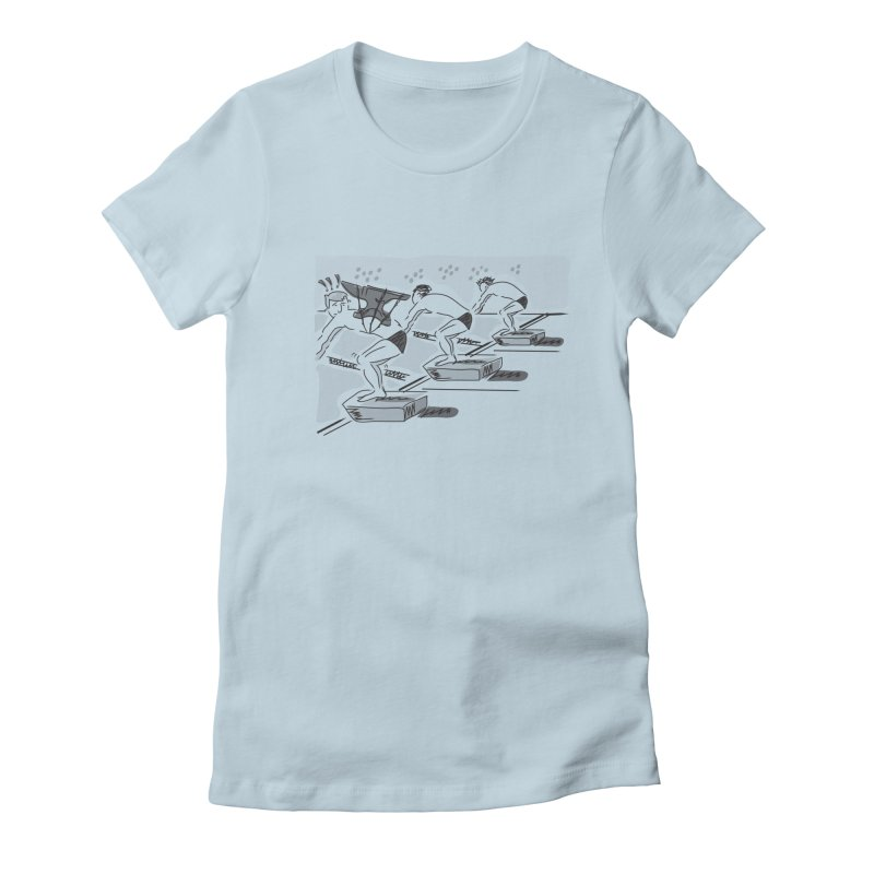 swimming Women's Fitted T-Shirt by Turkeylegsray's Artist Shop