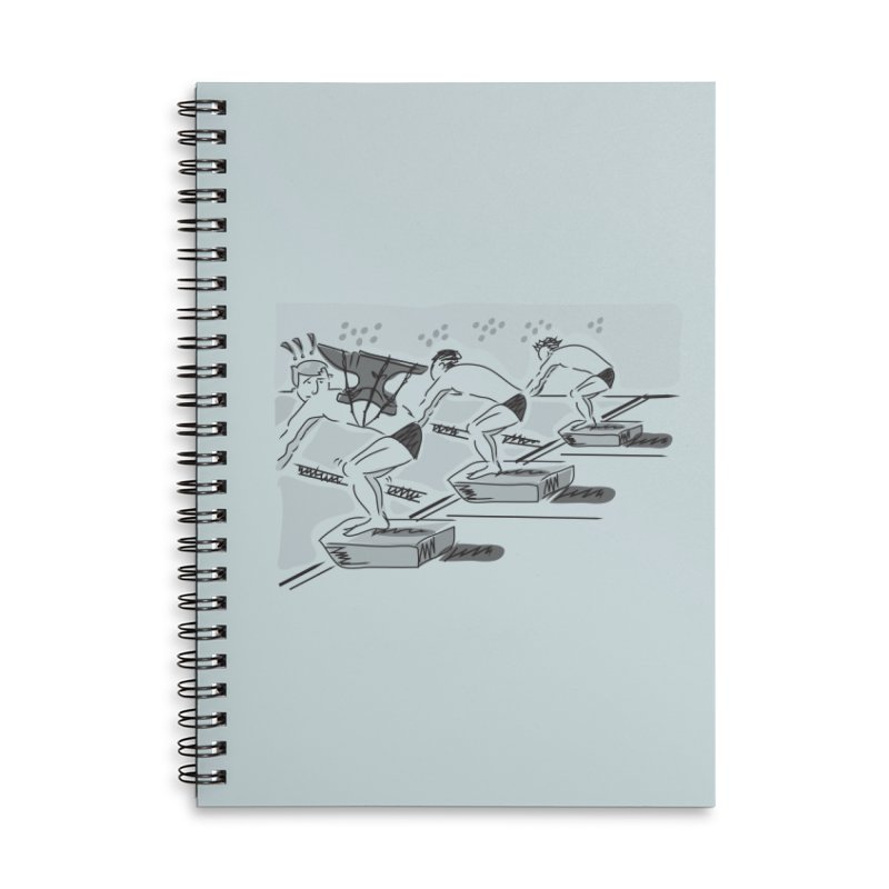 swimming Accessories Lined Spiral Notebook by Turkeylegsray's Artist Shop