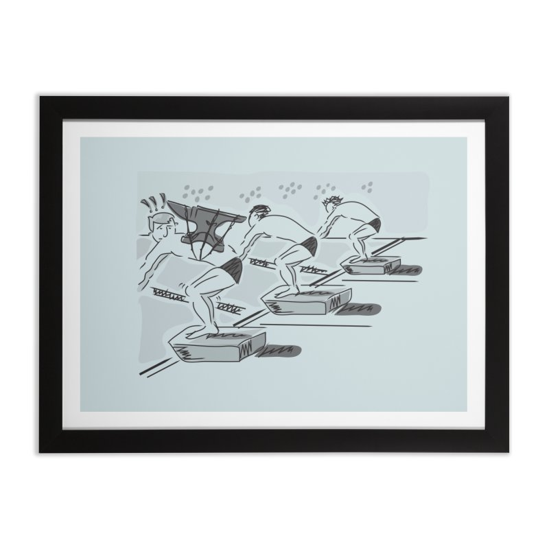 swimming Home Framed Fine Art Print by Turkeylegsray's Artist Shop
