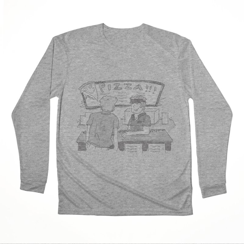 PIZZA Men's Performance Longsleeve T-Shirt by Turkeylegsray's Artist Shop