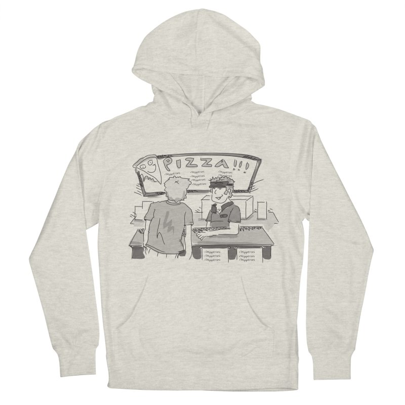 PIZZA Men's French Terry Pullover Hoody by Turkeylegsray's Artist Shop
