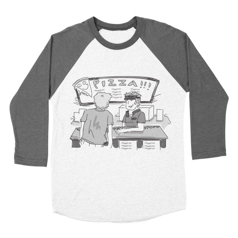 PIZZA Women's Baseball Triblend Longsleeve T-Shirt by Turkeylegsray's Artist Shop
