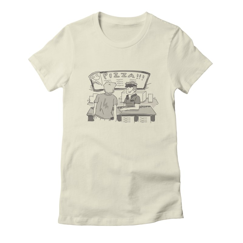 PIZZA Women's Fitted T-Shirt by Turkeylegsray's Artist Shop