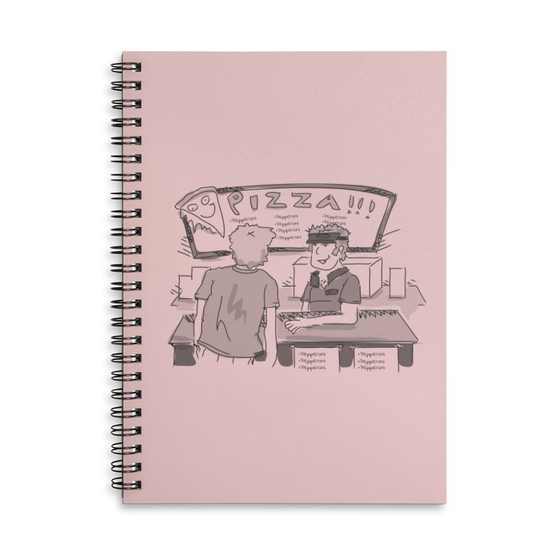 PIZZA Accessories Lined Spiral Notebook by Turkeylegsray's Artist Shop