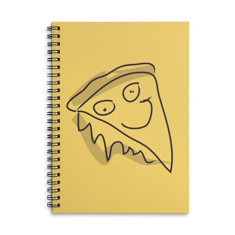 Pizza Face Accessories Lined Spiral Notebook by Turkeylegsray's Artist Shop