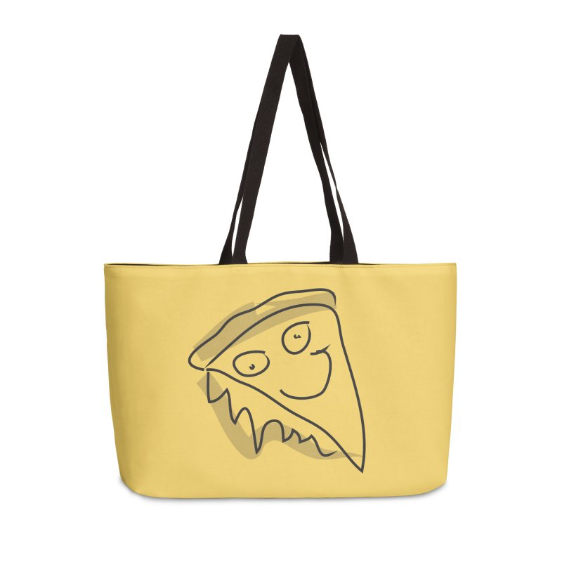 Pizza Face Accessories Weekender Bag Bag by Turkeylegsray's Artist Shop