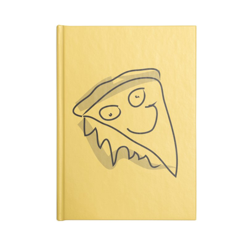 Pizza Face Accessories Blank Journal Notebook by Turkeylegsray's Artist Shop