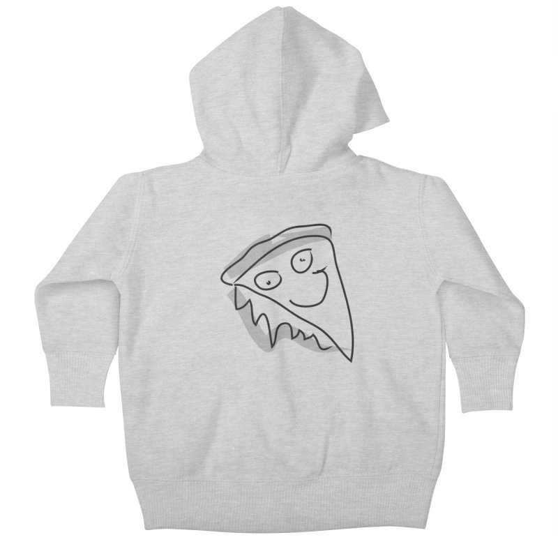 Pizza Face Kids Baby Zip-Up Hoody by Turkeylegsray's Artist Shop