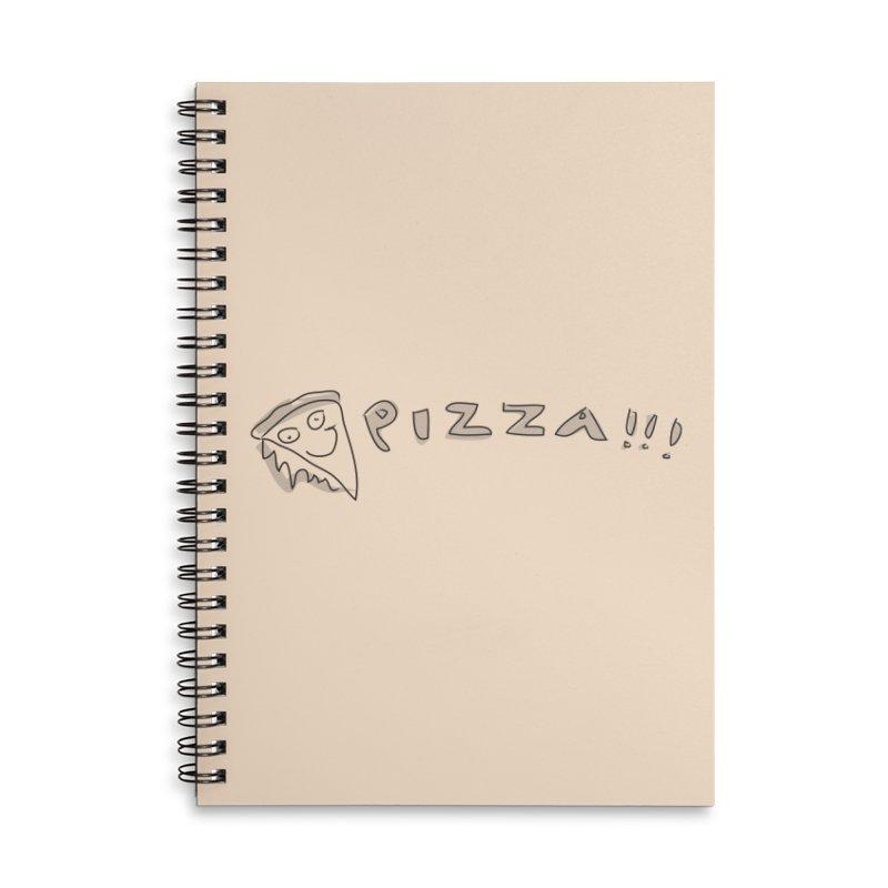 PIZZA!!! Accessories Lined Spiral Notebook by Turkeylegsray's Artist Shop