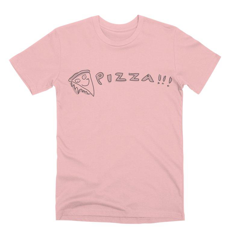 PIZZA!!! Men's Premium T-Shirt by Turkeylegsray's Artist Shop