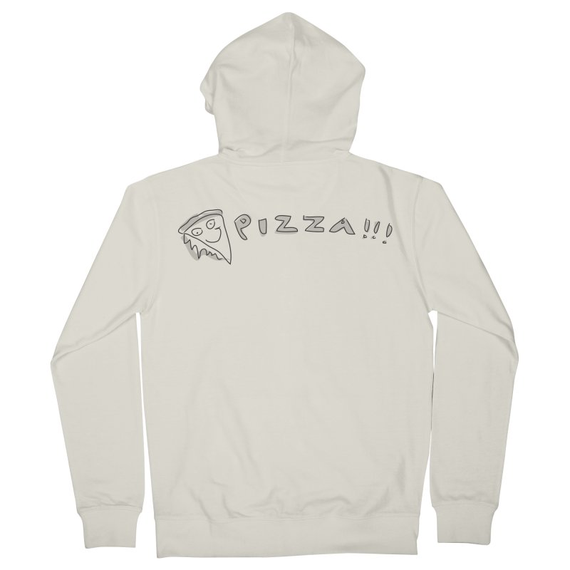 PIZZA!!! Men's French Terry Zip-Up Hoody by Turkeylegsray's Artist Shop