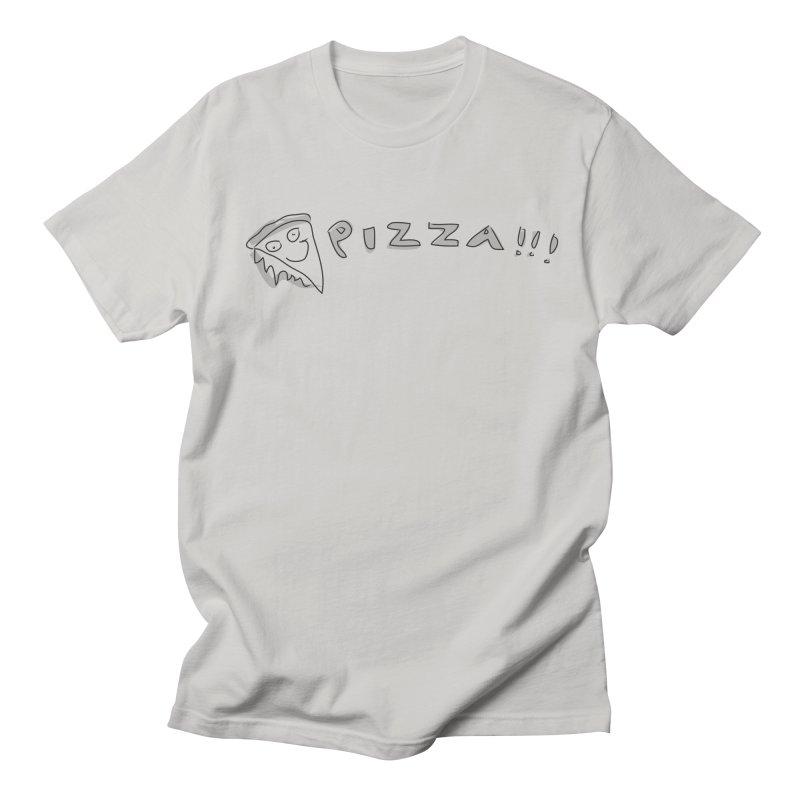 PIZZA!!! Men's Regular T-Shirt by Turkeylegsray's Artist Shop