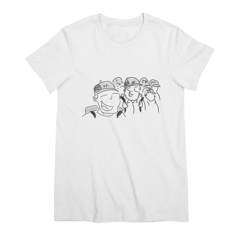 Hikers Women's Premium T-Shirt by Turkeylegsray's Artist Shop