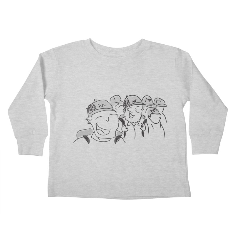 Hikers Kids Toddler Longsleeve T-Shirt by Turkeylegsray's Artist Shop