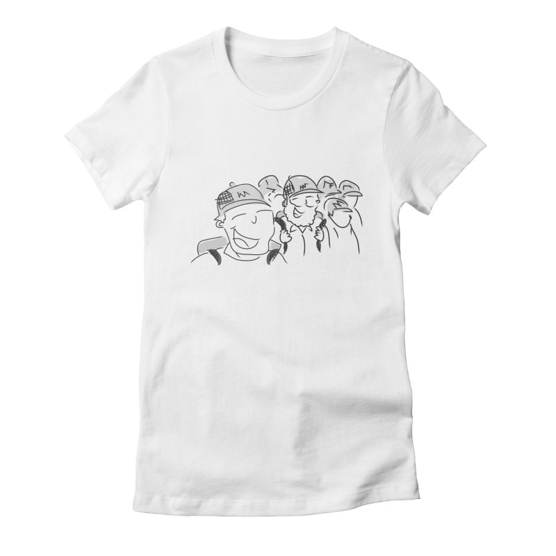 Hikers Women's Fitted T-Shirt by Turkeylegsray's Artist Shop