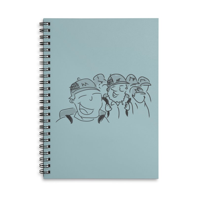 Hikers Accessories Lined Spiral Notebook by Turkeylegsray's Artist Shop