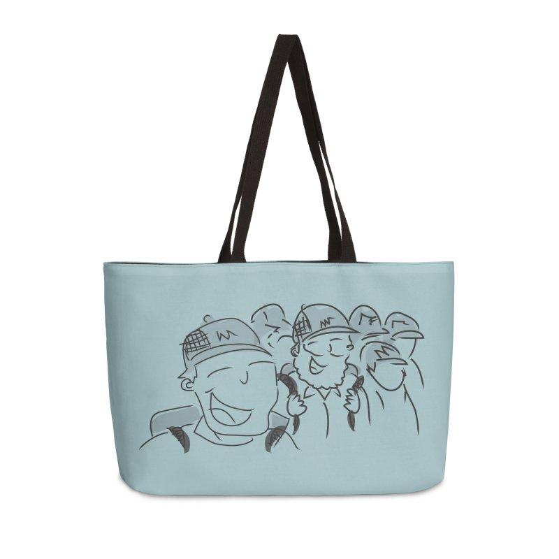 Hikers Accessories Weekender Bag Bag by Turkeylegsray's Artist Shop