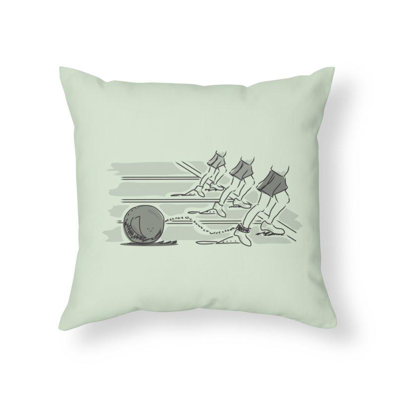 Running Home Throw Pillow by Turkeylegsray's Artist Shop