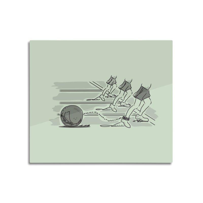 Running Home Mounted Aluminum Print by Turkeylegsray's Artist Shop