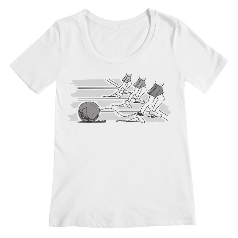 Running Women's Regular Scoop Neck by Turkeylegsray's Artist Shop