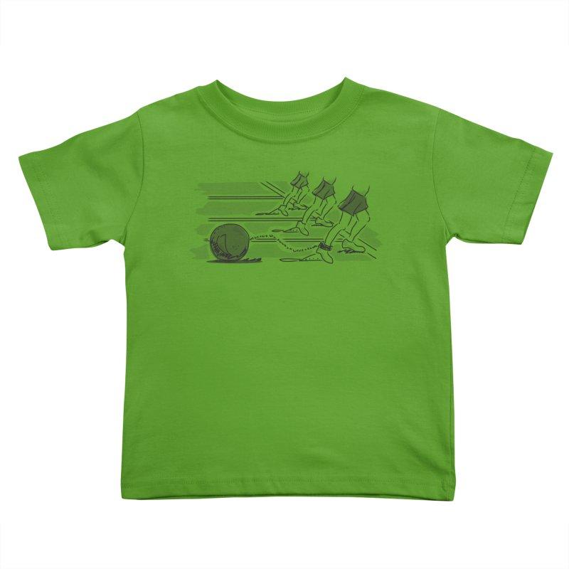Running Kids Toddler T-Shirt by Turkeylegsray's Artist Shop