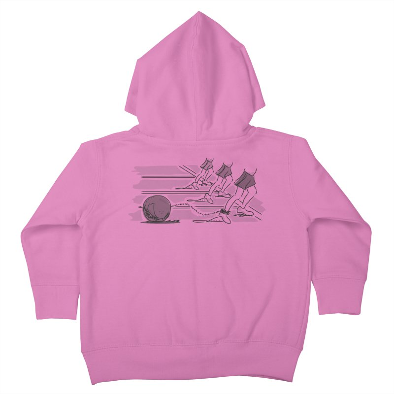 Running Kids Toddler Zip-Up Hoody by Turkeylegsray's Artist Shop