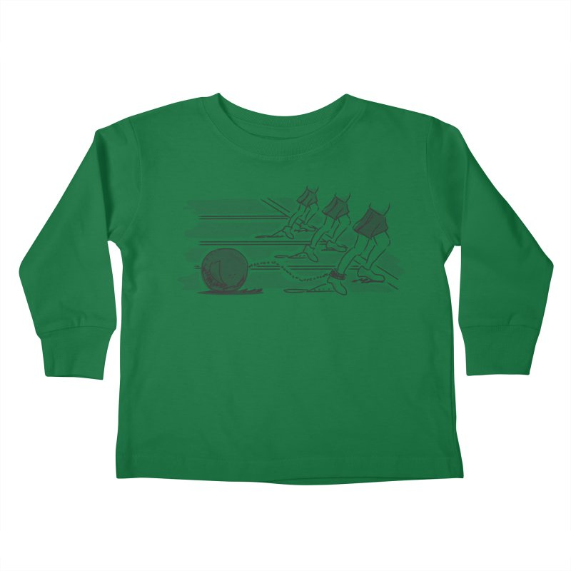 Running Kids Toddler Longsleeve T-Shirt by Turkeylegsray's Artist Shop