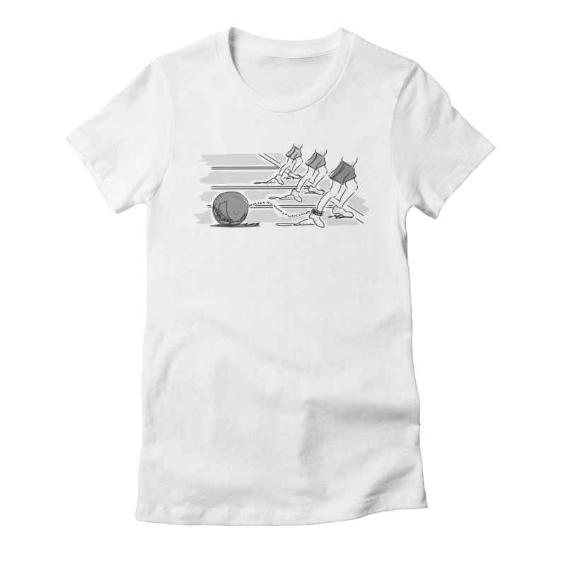 Running Women's Fitted T-Shirt by Turkeylegsray's Artist Shop