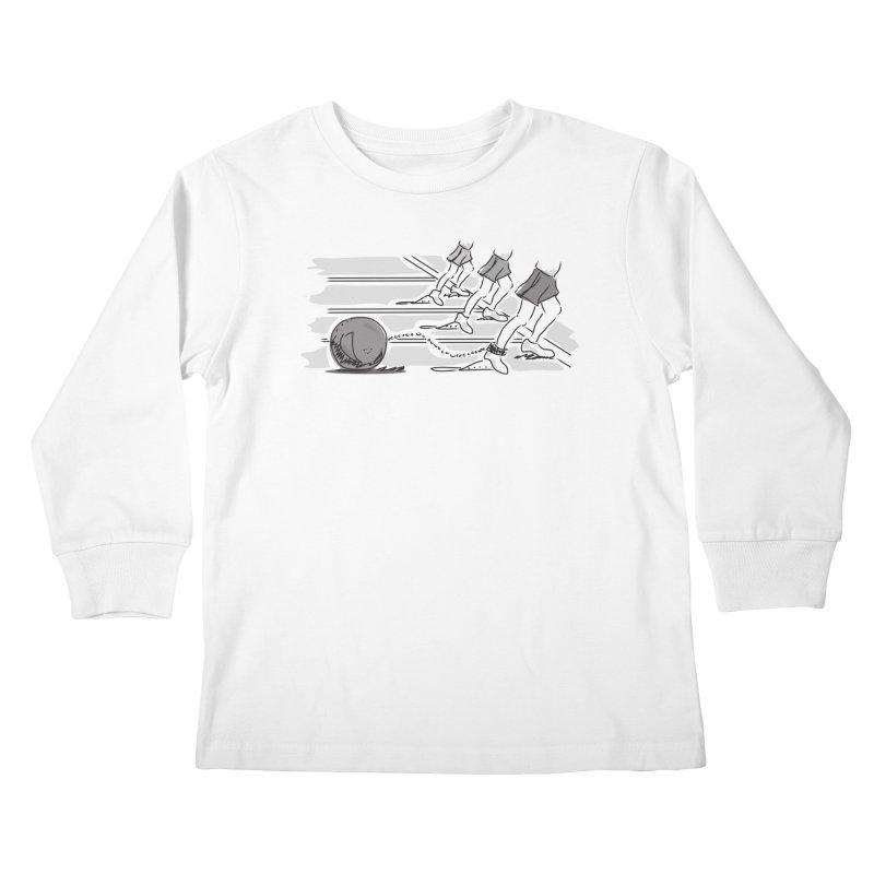 Running Kids Longsleeve T-Shirt by Turkeylegsray's Artist Shop
