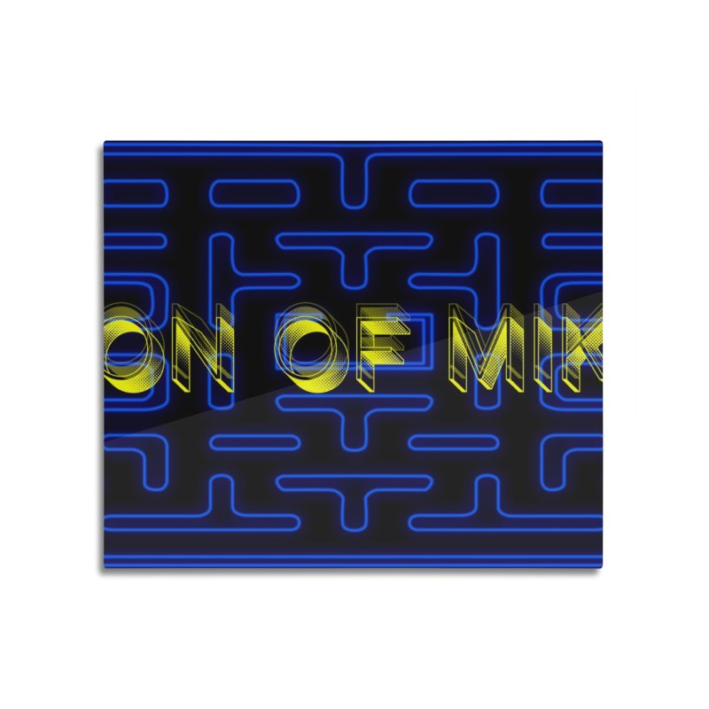 """Son of Mike """"PacMan"""" Home Mounted Aluminum Print by Turkeylegsray's Artist Shop"""