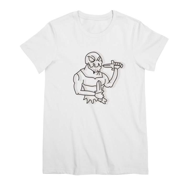 Skull Man Women's Premium T-Shirt by Turkeylegsray's Artist Shop