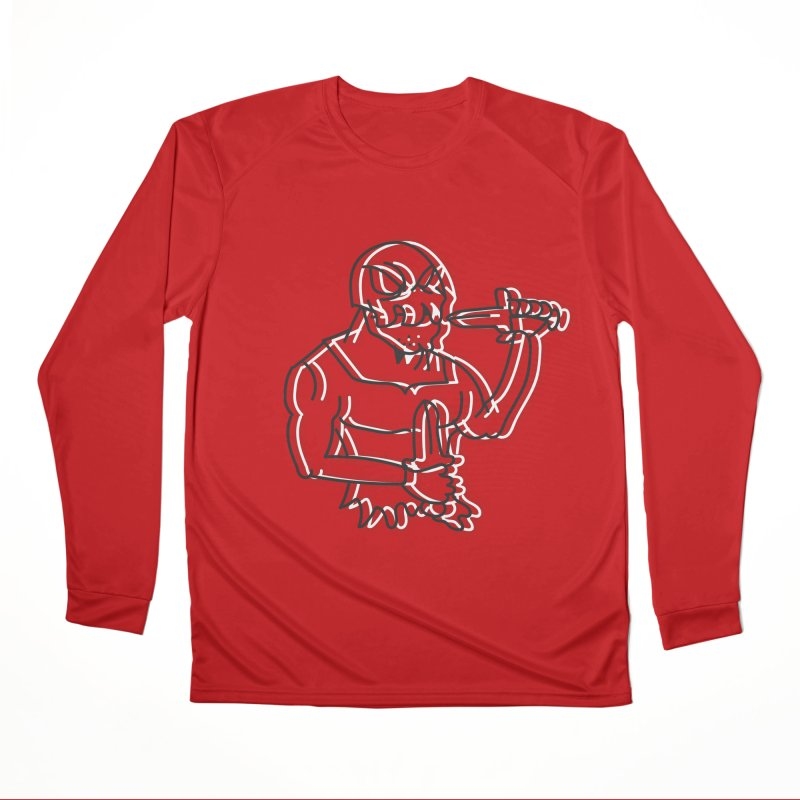 Skull Man Women's Performance Unisex Longsleeve T-Shirt by Turkeylegsray's Artist Shop