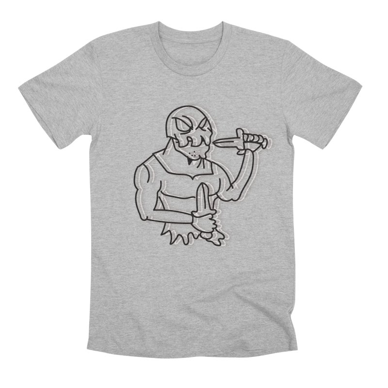 Skull Man Men's Premium T-Shirt by Turkeylegsray's Artist Shop