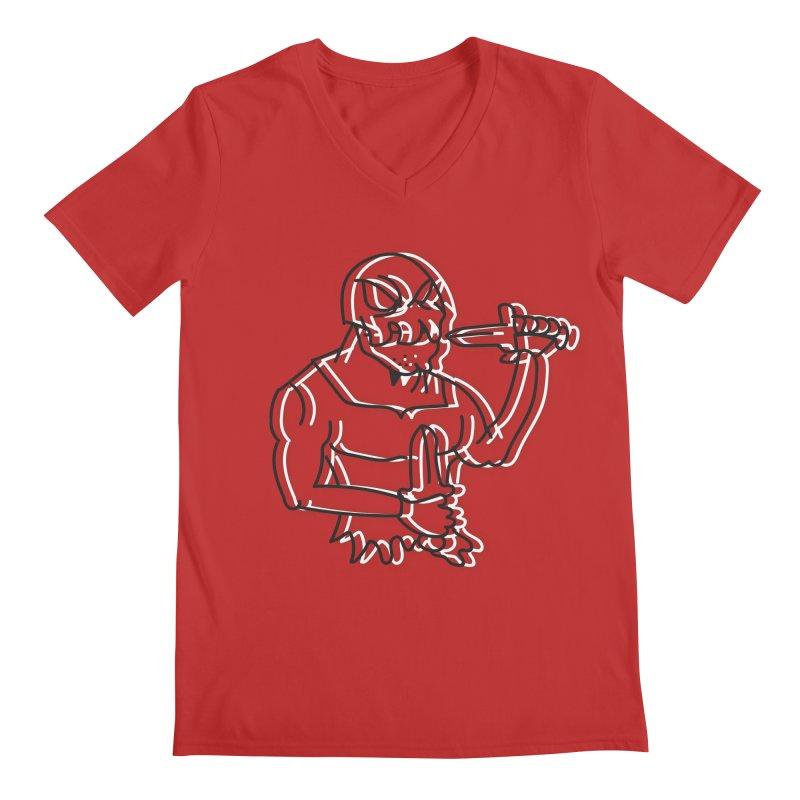 Skull Man Men's Regular V-Neck by Turkeylegsray's Artist Shop