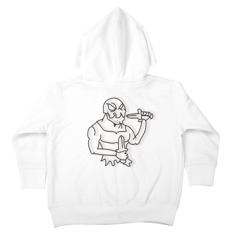 Skull Man Kids Toddler Zip-Up Hoody by Turkeylegsray's Artist Shop