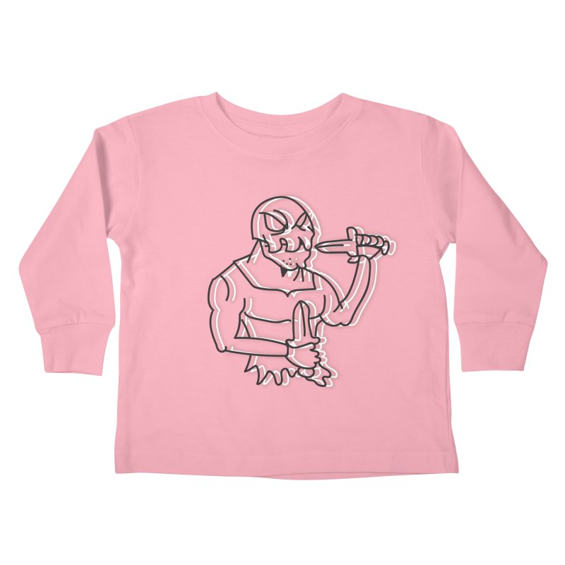 Skull Man Kids Toddler Longsleeve T-Shirt by Turkeylegsray's Artist Shop