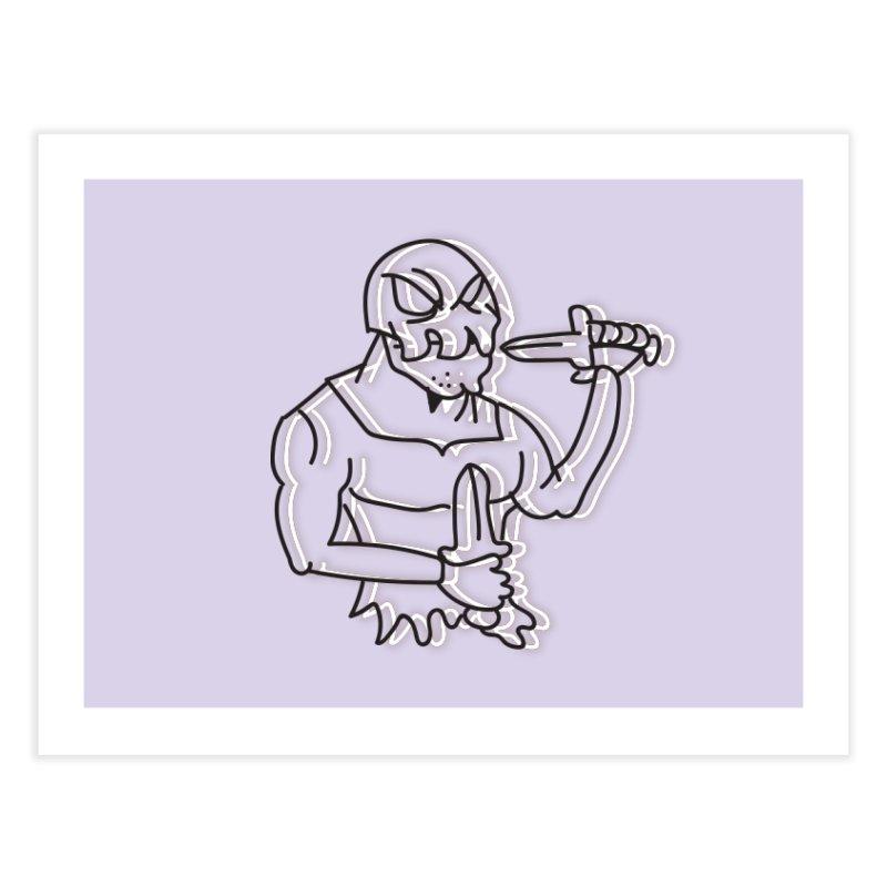 Skull Man Home Fine Art Print by Turkeylegsray's Artist Shop