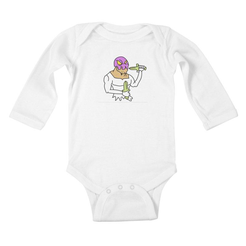 Skull Man Color Kids Baby Longsleeve Bodysuit by Turkeylegsray's Artist Shop