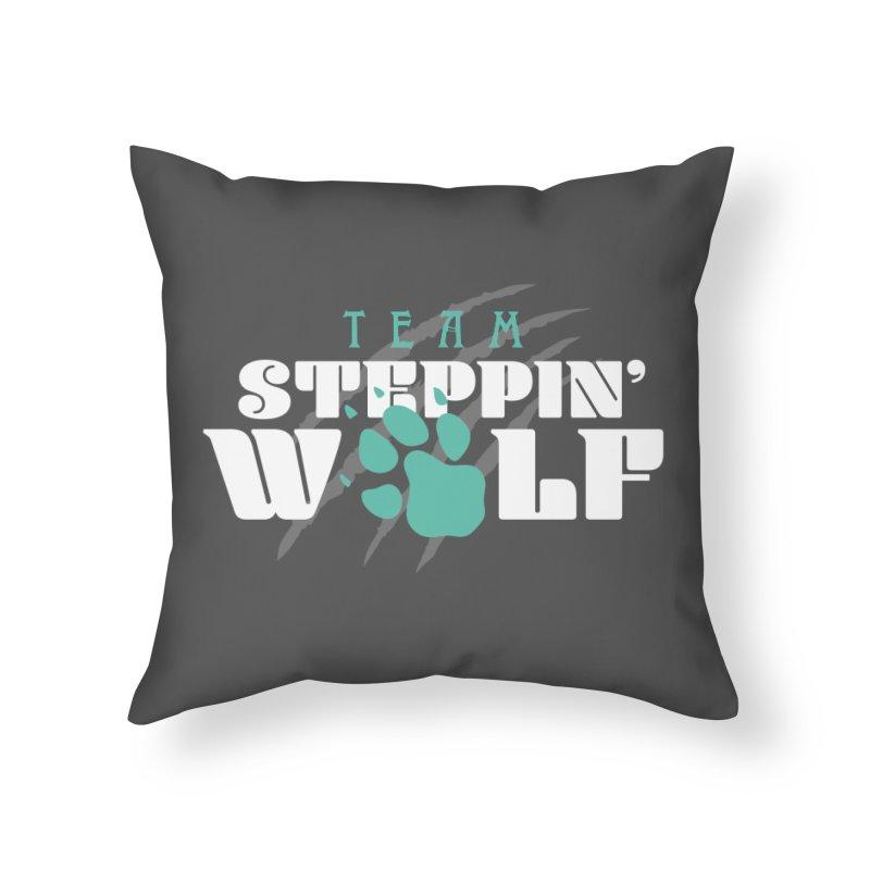 Steppin' Wolf Home Throw Pillow by Turkeylegsray's Artist Shop